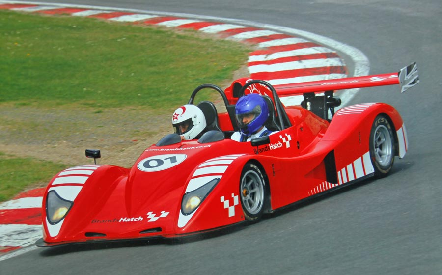 Wil Arif driver instruction at Brands Hatch