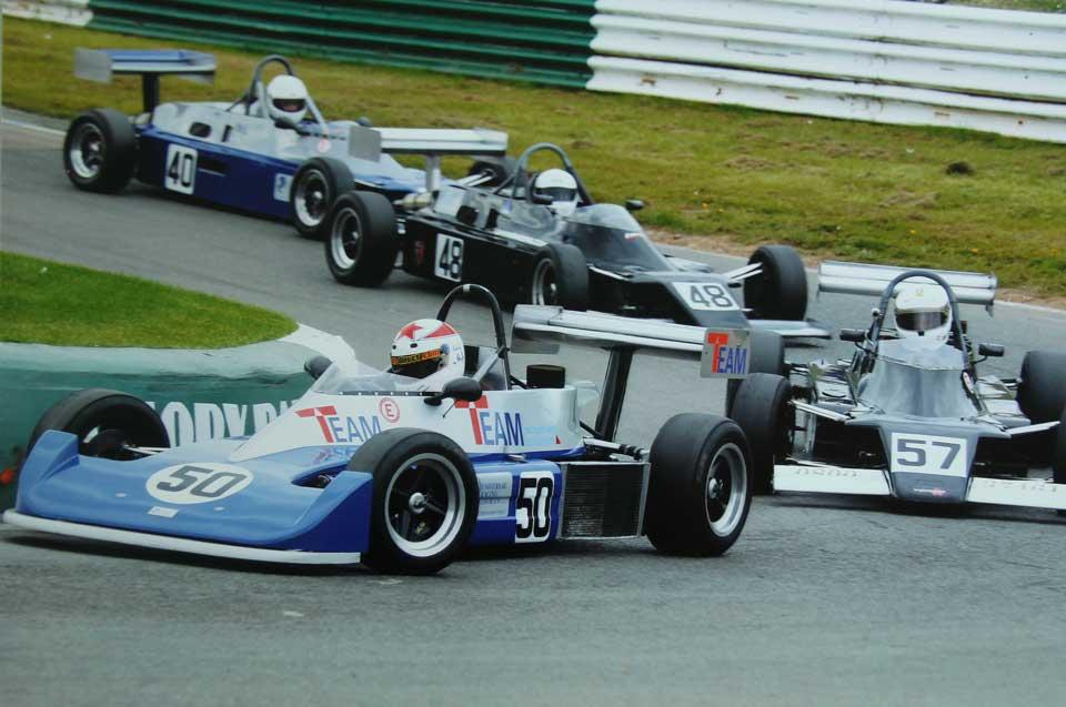 Wil Arif racing a Reynard 79 FF2000 at Mallory Park